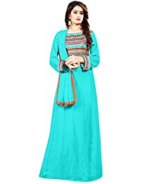 VidhiDev Creation Fabric Embroidered work Semi Stitched Long Anarkali Suit