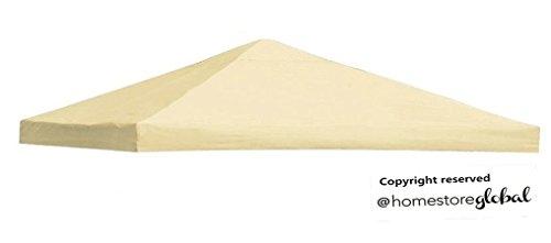 HomeStore Global Canopy de repuesto para Nivel 1 3 x 3 m marco glorieta (color Crema)