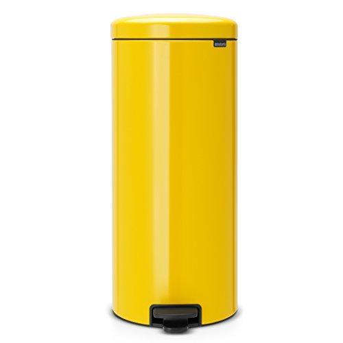 Brabantia NewIcon - 30 Liter Pedal Mülleimer, gelbe Farbe
