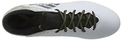 adidas X 16.3 Ag, Scarpe da Calcio Uomo Bianco (Ftwr White/core Black/gold Metallic)