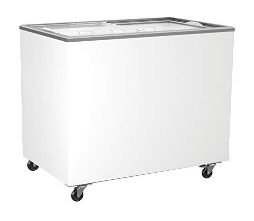 Tiefkühltruhe mit Glasschiebedeckel 314 Liter Tiefkühltruhe Kühltruhe Gefriertruhe Truhe