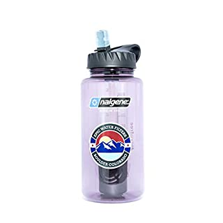 Epic Nalgene OG | Water Filtration Bottle | Wide Mouth 32 oz | American Made Bottle | USA Made Filter Removes 99.99% of Tap Water Contaminants Lead Chlorine Chromium 6 Arsenic Chloroform (Aubergine)