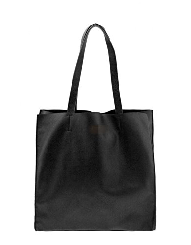 MYLL Universitario Di Grande Capienza Tracolla Semplice Shopping Bag Black