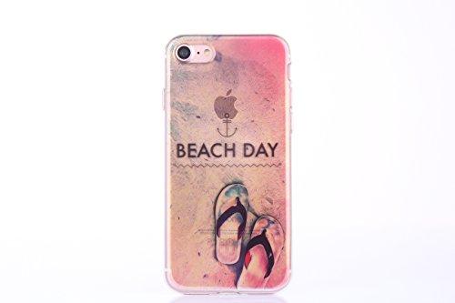 Meimeiwu Hohe Qualität Ultra Slim Schöne Landschaft TPU Transparent Case Hülle Schutzhülle für iPhone 6 6S - Beach Day Beach Day