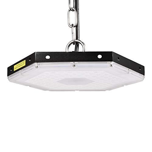 Viugreum LED UFO Lampada Industriale 100W, Illuminazione Bianco Freddeo Impermeabile IP65,9000LM per interni/esterni Proiettori a sospensione commerciale, 6500K Luci bianche per garage