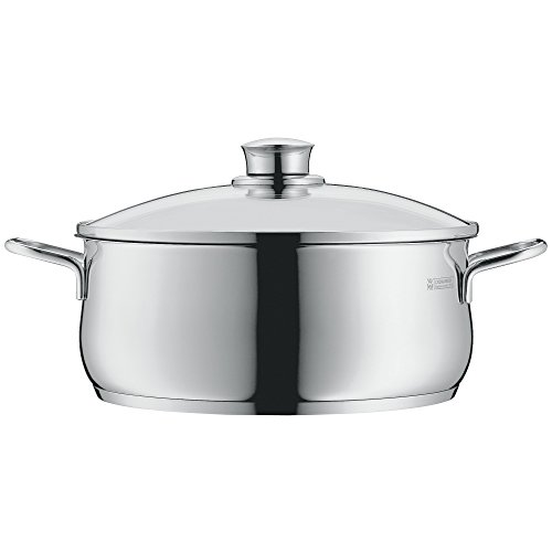 WMF cookware Ø 20 cm approx. 3l Diadem Plus pouring rim glass lid Cromargan stainless steel brushed suitable for all stove tops including induction dishwasher-safe