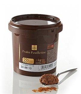 Cacao Barry Pralin feuilletine, Miscela: 23% pailleté feuilletine/12% Nocciole/12% Mandorle, contenuto: 1Kg