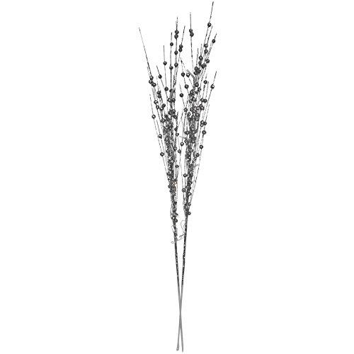 DIVERSE LED-Zweige silber glitzernd