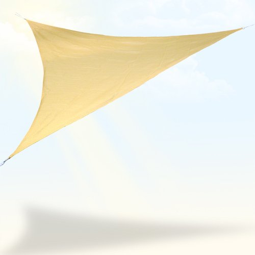 Jago SOSE01 Telo ombreggiante, triangolo, 5 metri, beige