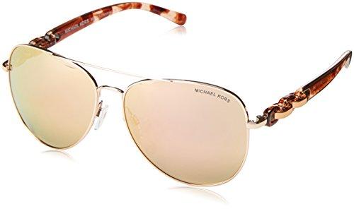 Michael Kors Damen PANDORA 1130R1 58 Sonnenbrille, Rose Gold Flash