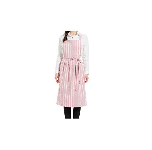 Shimmer Lumine-apron Schürze Kurz Nordic Wind Faltenrock Baumwollleinenschürze Coffee Shops und Blumenläden Arbeit Reinigung Schürzen für Frau Waschen, B9