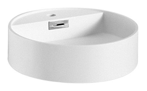 Lineabeta Momon lavabo rond, Résine acrylique, Blanc Matt, 45.5 x 45.5 x 12 cm