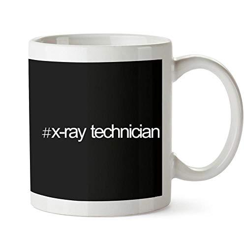Bold X-ray (Idakoos Hashtag X Ray Technician Bold Text Becher Keramik 11 unzen)