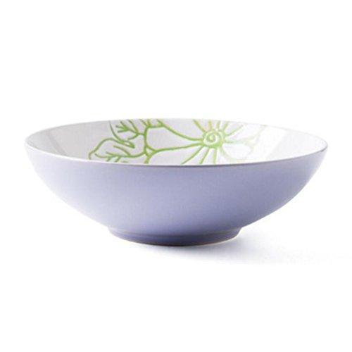 MXJ61 8 Pouces Accueil céramique Personnalité créative Grand Bol de Soupe Souper Bassin Plat à thé Salade de Fruits Bol Bleu