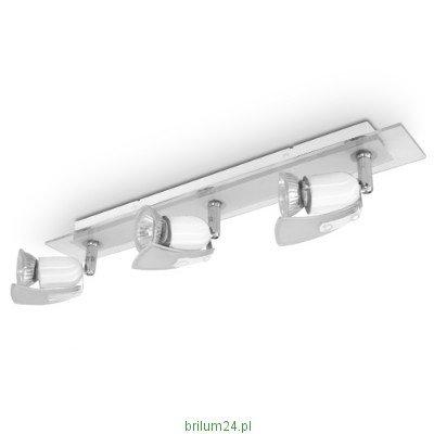 LED Deckenleuchte, LED Deckenlampe 3-flammig, GLAS WEISS, 3x 4W LED Lampe, LED Deckenleuchtmittel (3-Flammig)