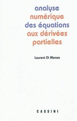 Analyse numérique des équations aux dérivées partielles