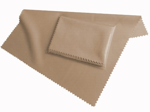 19x20cm Mikrofaser Reinigungstuch, HighTech Displaytuch in beige, zum Reinigen von MacBook, iPad, iPhone, Smartphones, Tablet PCs, Bildschirme, Brillen, Display Tuch Clean