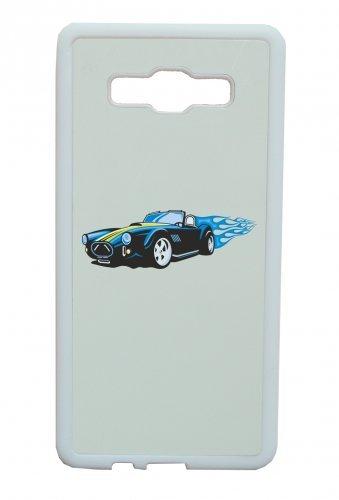 Smartphone Case Sport Wagen Hotrod con fiamme blu America Amy USA Auto Car lusso larghezza Bau V8V12Motore cerchione Tuning Mustang Cobra per Apple Iphone 4/4S, 5/5S, 5C, 6/6S, 7&