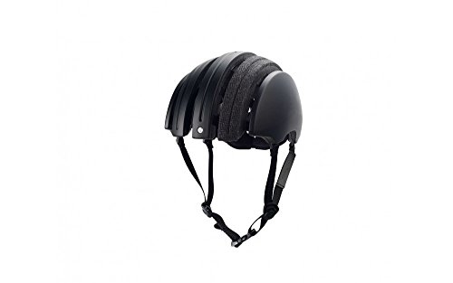 John Boultbee JB Especial Carrera Casco Plegable para Bicicleta - Color Negro/Gris,...