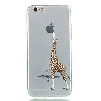 Cases/Holster Handy-Hüllen & Hüllen, Weicher Telefonkasten der Giraffe TPU (Kompatible Modellen : iPhone SE/5s/5)