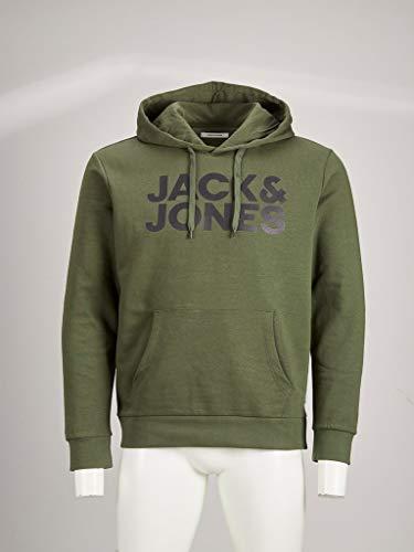 Jack & Jones NOS Herren Jjecorp Logo Sweat Hood Noos Kapuzenpullover, Grün(Olive NightGrün), Medium