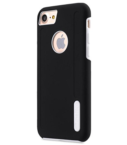 Apple Iphone 7 Melkco Jacka Type Premium Leather Case with Premium Leather Hand Crafted Good Protection,Premium Feel-Red LC Black/White