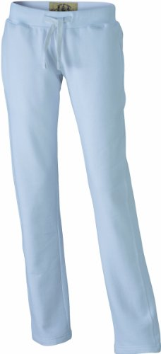 James & Nicholson Ladies' vintage - Pantalones para mujer, tamaño M, color blanco
