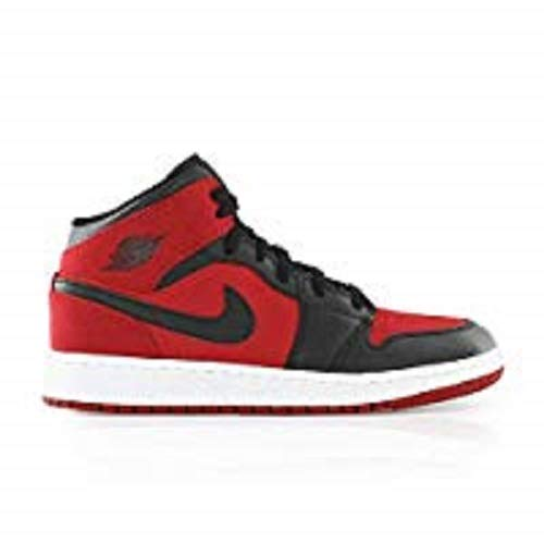 82eafa0e2fe0b 50% off nike air jordan 1 mid bg boys basketball shoes red gym red 3223f