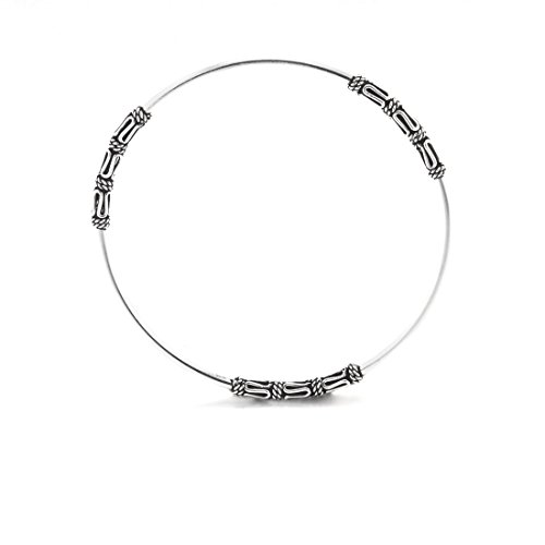 Traditionelle Scroll (Silbern Womens 925er Sterling Silber Armband-Filigrane balinesischen Scroll Armband)