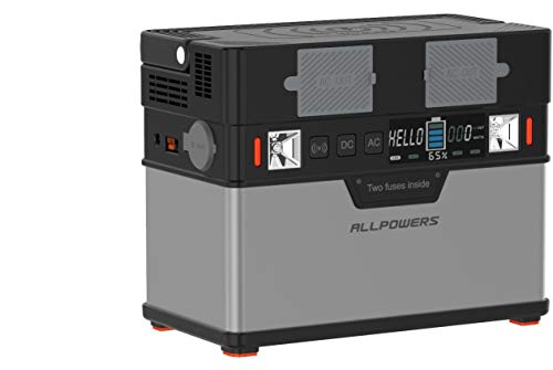 ALLPOWERS 372Wh Solar Generator 220V Stromerzeuger AC Steckdose 12V DC und USB C Solarbatterie Tragbarer Solar Wechselrichter Aufgeladen durch Solarpanel/Steckdose/Auto/Powerbank