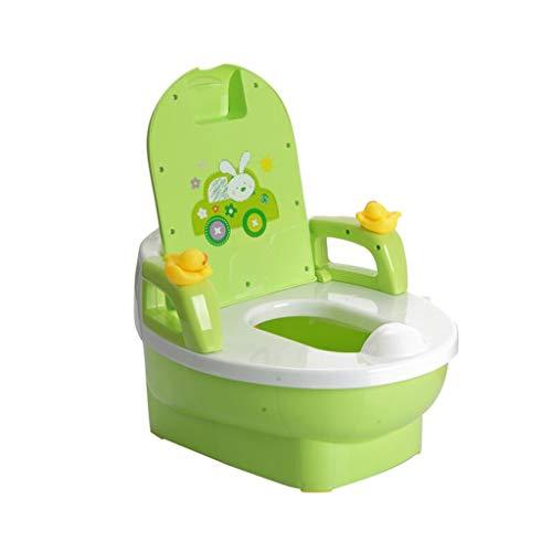 LLRDIAN Extra grand tiroir type toilette enfant ▎ mâle et femelle bébé bébé pot ▎ toilette enfant toilette grenouille (Couleur : Green)