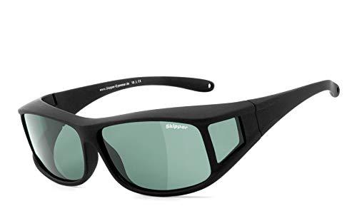 Skipper® | Überbrille, Überziehbrille, Sonnenbrille für Damen & Herren | POLARISIERT | UV400 Schutzfilter | polarisierende HLT® Kunststoff-Gläser | Brille: Skipper 10.0