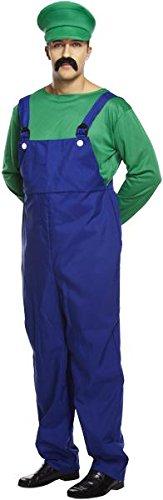Henbrandt - Costume da idraulico Super Mario Bros, per uomo