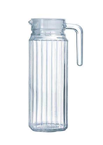 Arcoroc ARC 70361 Quadro Kühlschrankkrug mit Deckel, 1100 ml, Glas, transparent, 1 Stück
