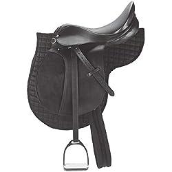 Leather Craft Sillín de Caballo sintético para Uso General, de Piel, para Uso General, tamaño: Asiento Disponible de 14 a 18 Pulgadas
