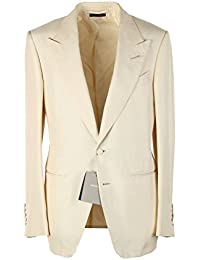 CL - TOM FORD Shelton Ivory Tuxedo Smoking Suit Size 46 / 36R U.S. In Silk