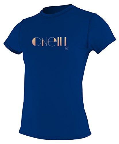 O 'Neill Neoprenanzug Damen UV Sun Schutz Skins Short Sleeve Tee Rashguard kobalt