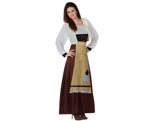 Atosa - Disfraz de campesina para mujer, talla 44-46 (8422259172512)