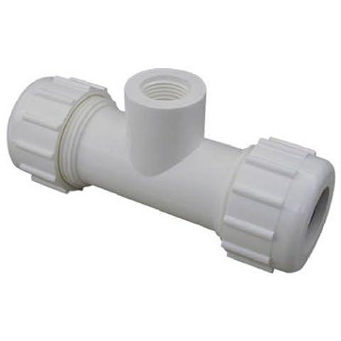 HOMEWERKS WORLDWIDE LLC - 3/4x1/2 PVC CMP Tee - 0,75 Pvc Tee