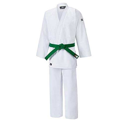 Mizuno judogi hayato 100% cotone bianco 550 gr (tg. 4/170 cm)
