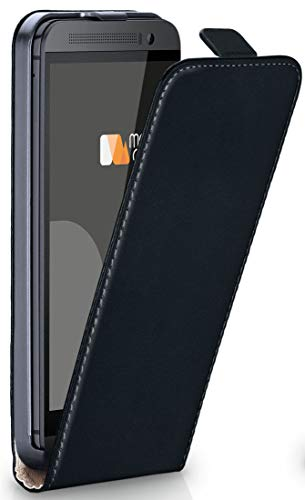 moex HTC One M9 Plus | Hülle Schwarz 360° Klapp-Hülle Etui Thin Handytasche Dünn Handyhülle für HTC One M9+ Plus Case Flip Cover Schutzhülle Kunst-Leder Tasche