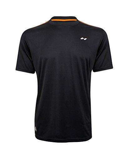 Nivia Hydra-1 2205M6 Polyester Fitness Jersey, Medium (Black/Orange)
