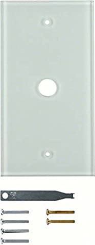 Hager 1391–Plaque TS verre plat 1polo blanc