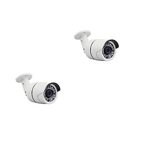 IKVRU Videoüberwachungssystem, Outdoor Home Security Camera System 1080P DVR 1 TB Hard Drive,2 HD Bullet Surveillance Kameras mit Nachtsicht und Bewegungserkennung (Keine Festplatte)