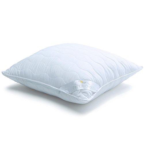aqua-textil Ambiente Kopfkissen 80x80 mit Reißverschluß zum Anpassen der Füllung 1300g, atmungsaktives kochfestes Kissen/Pillow 1000768