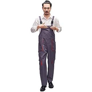 Oraunent Uniforme de Trabajo Mono Pantalones de Trabajo para Hombres y Mujeres con Bolsillos para Mecánico Resistente al Desgaste