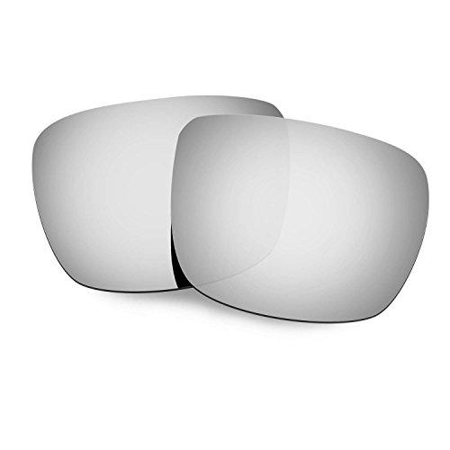 HKUCO Plus Mens Replacement Lenses For Spy Optic Helm Sunglasses Titanium Mirror Polarized