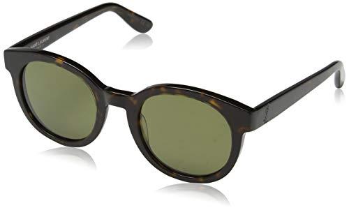 Saint Laurent Unisex-Erwachsene SL M15 002 Sonnenbrille, Braun (002-AVANA/GREEN), 51
