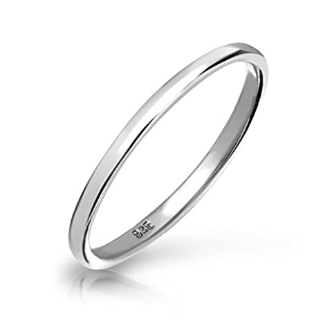 .925 Sterling Silver Wedding Band Thumb Toe Ring 2mm with Engraving