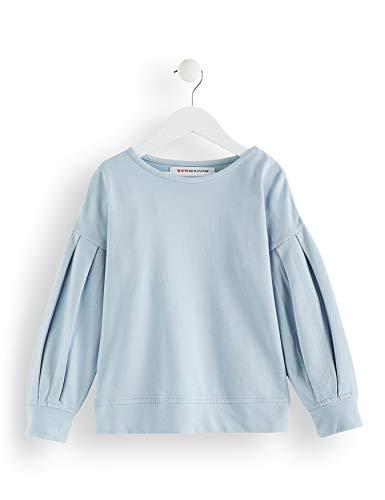 RED WAGON Mädchen Sweatshirt mit Raffungen, Blau (Light Blue), 146 (Herstellergröße: 11 Jahre)